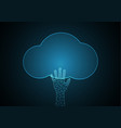 technology future hand cloud vector image