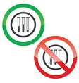 Test-tubes permission signs vector image vector image