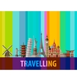 travel journey logo design template vector image