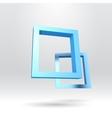 Two blue rectangular 3D frames vector image vector image