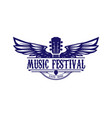 vintage retro guitar wing wings music competition vector image vector image