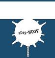 virus as a naval mine novel wuhan coronavirus vector image vector image