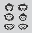 monkey design set vector image