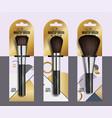 realistic professional makeup artist brush set vector image
