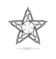 Futuristic star abstract design element on white vector image