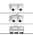 Public transport bus trolleybus tram vector image