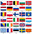 Flags of Europe Set vector image