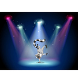 A lemur performing a show on stage vector image vector image