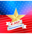 American 4th of July with ribbon vector image