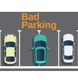 Bad parking Cars top view vector image vector image