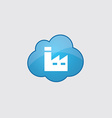 Blue cloud factory icon vector image vector image
