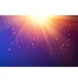 bright fire sparks over deep ultraviolet space vector image vector image