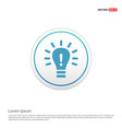 bulb concept creative idea icon - white circle vector image vector image