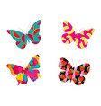 butterfly with a pattern of berries and fruit vector image vector image