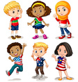 Children from different countries vector image vector image