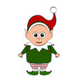 christmas elf cartoon character vector image vector image
