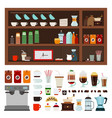 collection goods for a coffee shop