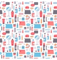 Cosmetic seamless pattern cosmetology art vector image vector image
