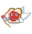 cupid bread with jam character cartoon vector image