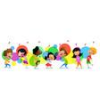 cute funny children in dance studio vector image vector image