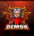 demon mascot esport logo design vector image vector image