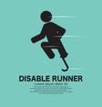 disabled leg runner icon black symbol vector image vector image