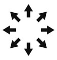 expand arrows icon vector image vector image