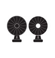 fan icon flat sign vector image vector image