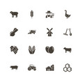 farming - flat icons vector image