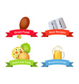 Foot Drinks Culinary Recipes vector image vector image