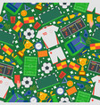 football icons in seamless pattern vector image vector image