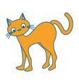 funny cute cat icon vector image