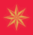 golden christmas star vector image vector image