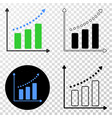 growing chart eps icon with contour version vector image vector image