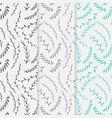 hand drawn botanical pattern background floral vector image vector image