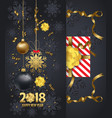 holiday greeting and happy new year 2018 card vector image vector image