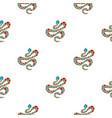 Light blue snake with orange spots pattern flat vector image