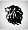 lion roaring logo mascot design vector image vector image