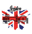london flag england toruism travel landmark symbol vector image vector image