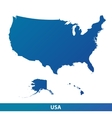 map usa isolated on a white background vector image