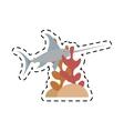 marlin swordfish marine wildlife coral vector image vector image