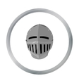 Medieval helmet icon cartoon Single weapon icon vector image