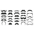 moustaches symbols vintage male moustaches vector image
