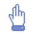 Pixel hand icon vector image