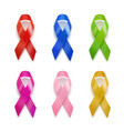 realistic set of ribbons 3d icon isolated on vector image