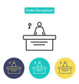 reception icon vector image
