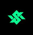 s i letter based symbol vector image