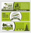save nature planet earth protection banners vector image vector image