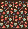 seamless chocolate pattern with sweet candy vector image