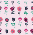seamless flower pattern in folk art style vector image vector image
